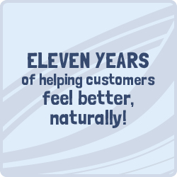 Over 8 years of helping customers feel naturually better
