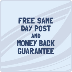 Free same day post and money back guarantee